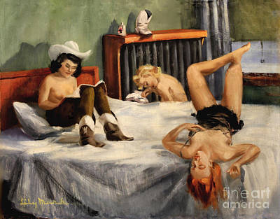 Painting - Relaxing After Rehearsal 1940 by Art By Tolpo Collection