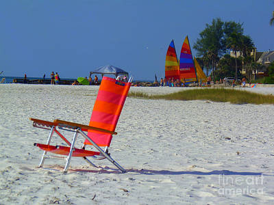 Photograph - Relaxing At Siesta Beach by Lou Ann Bagnall