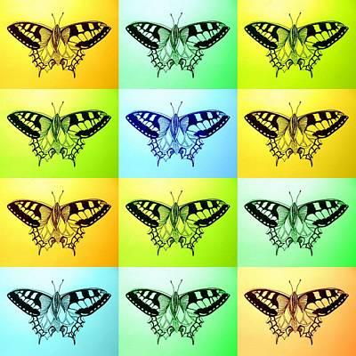 Womens Digital Art - Relaxing Butterflies by Cathy Jacobs
