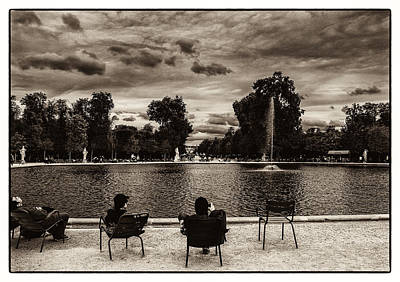 Photograph - Relaxing In Jardin Des Tuileries by Lenny Carter