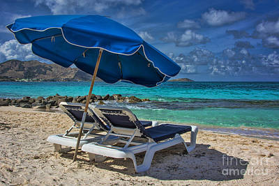 Relaxing In St Maarten Art Print