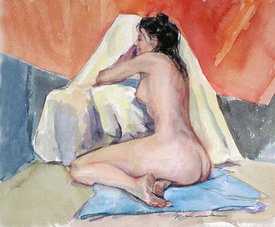 Painting - Relaxing Nude by Mark Lunde