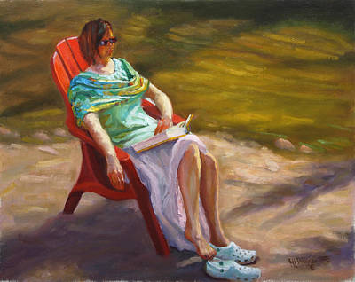 Painting - Relaxing On The Kickapoo by Jeff Dickson