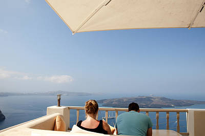 Photograph - Relaxing Santorini by Brenda Kean