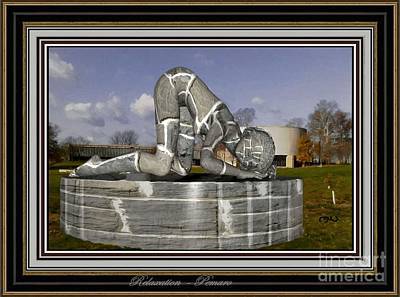 Statue Portrait Digital Art - relaxing statue 01RS2 by Pemaro