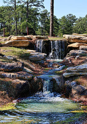 Photograph - Relaxing Waterfall by Judy Vincent