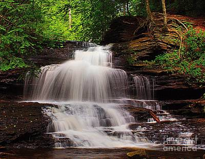 Photograph - Relaxing Waterfall by Nick Zelinsky
