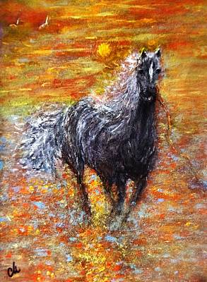 Art Print featuring the painting Release.. by Cristina Mihailescu