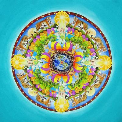 Tree Roots Painting - Release Mandala by Vikki Reed