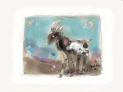 Painting - Releasing The Goat by Peter Ciccariello