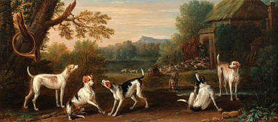 Releasing The Hounds, John Wootton, 1682-1764 Print by Litz Collection