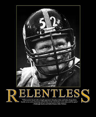 Relentless Mike Webster Art Print by Retro Images Archive