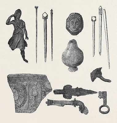 Found Art Drawing - Relics From Uriconium Found In The Recent Excavations by English School