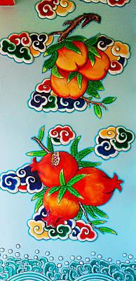 Relief In Thai Temple Art Print