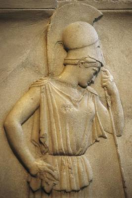 Statue Portrait Photograph - Relief Of The Mourning Athena. 460 Bc by Everett