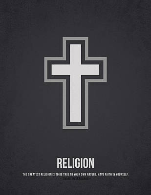 Religious Drawing - Religion by Aged Pixel