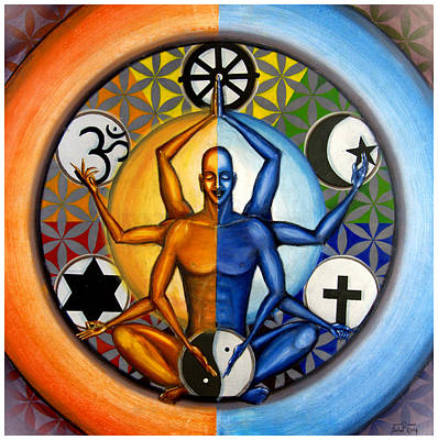 Conscious Painting - Religion And Unity by Sohel Mehboob