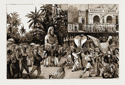Religious Art Drawing - Religious Riots At Colombo, Ceylon, Sri Lanka The Buddhist by Litz Collection