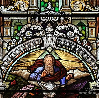 Photograph - Religious Stained Glass Art by Adam Jewell