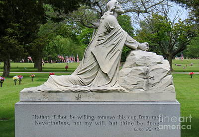 Photograph - Religious Statue And Verse by Kay Novy
