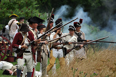 Revolutionary Wars Re-enactment Photograph - Reload by William Coffey