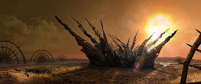 Digital Art - Remains Alien Colony by Virginia Palomeque