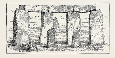 Remains Of A Druidic Temple Art Print by English School