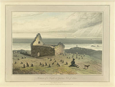 Landscape Of The Year Photograph - Remains Of A Temple At Galston by British Library