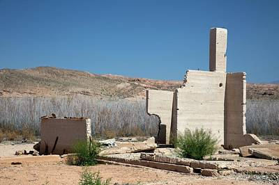 Remains Of House Flooded By Hoover Dam Art Print by Jim West