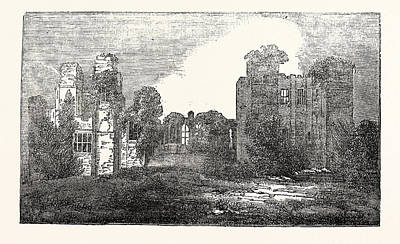 Kenilworth Castle Wall Art - Drawing - Remains Of Kenilworth Castle by English School