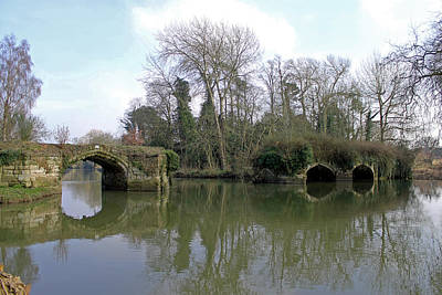 Photograph - Remains Of Old Bridge Warwick by Tony Murtagh
