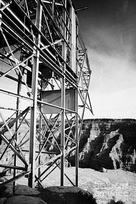 remains of old tramway headhouse for the mine at guano point Grand Canyon west arizona usa Art Print by Joe Fox