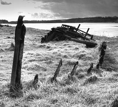 Remains Of The Severn Trow Severn Collier At Purton Print by Rachel Down