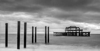 Photograph - Remains Of The West Pier In Brighton by Semmick Photo
