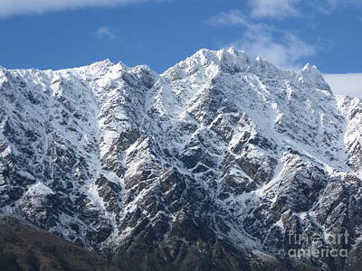 Remarkables Mountains  Art Print by  Lines