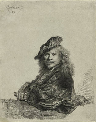 Beach House Drawing - Rembrandt Self Portrait 1639 by Movie Poster Prints