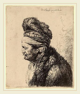 Studio Drawing - Rembrandt Van Rijn And Studio Of Rembrandt Van Rijn by Litz Collection