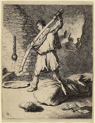 Studio Drawing - Rembrandt Van Rijn And Studio Of Rembrandt Van Rijn by Quint Lox