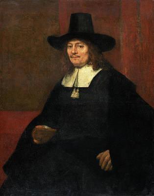 Rembrandt Van Rijn Dutch, 1606 - 1669, Portrait Of A Man Art Print by Quint Lox