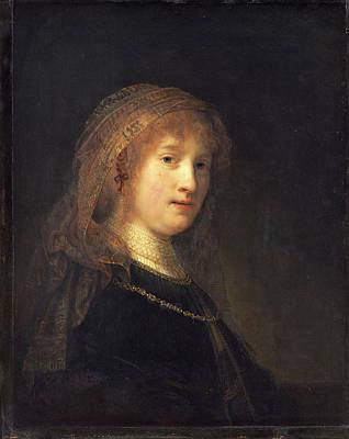 Saskia Painting - Rembrandt Van Rijn Dutch, 1606 - 1669, Saskia Van Uylenburgh by Quint Lox
