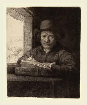 Self-portrait Drawing - Rembrandt Van Rijn Dutch, 1606-1669, Self-portrait Drawing by Litz Collection