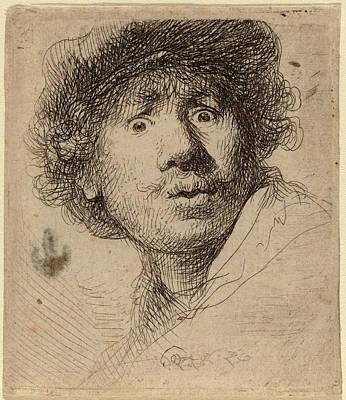 Rembrandt Van Rijn Dutch, 1606 - 1669, Self-portrait Art Print