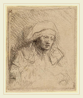 Saskia Drawing - Rembrandt Van Rijn Dutch, 1606-1669, Sick Woman by Litz Collection