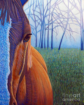 Wild Horse Painting - Remember by Brian  Commerford