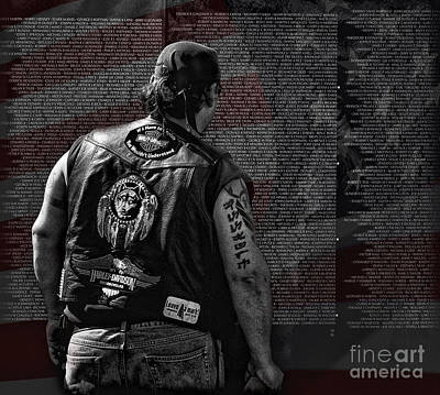 Vietnam Veterans Memorial Wall Photograph - Remember by Brian Mollenkopf