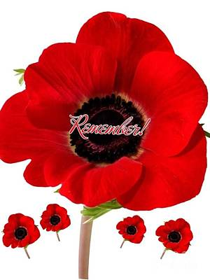Remembrance Mixed Media - Remember by Joan-Violet Stretch