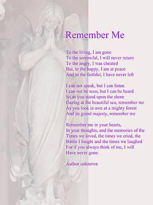 In Memory Of Digital Art - Remember Me by Philip Ralley
