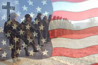 Digital Art - Remember Our Troops by Ernie Echols