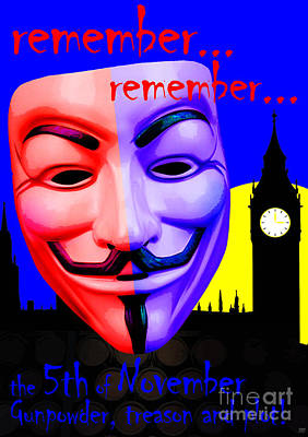 Remember Remember Art Print by Neil Finnemore