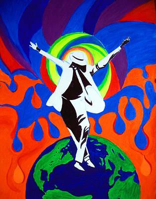 Michael Jackson Oil Painting - Remember The Time by Seshadri Sreenivasan